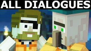 Convincing Jack To Stay - All Dialogues - Minecraft: Season 2 Episode 4: Below The Bedrock