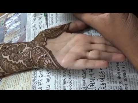 Perfect Indian Mehendi Design On Palm:Henna Mehandi 2014(Eid;Weddings)