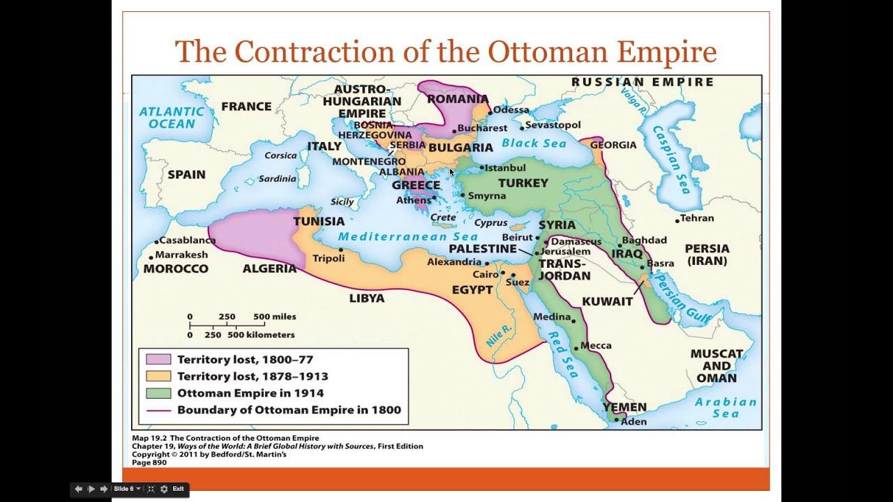 Ottoman Empire Map 1914