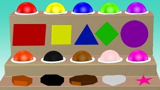 Learn Colors With Shapes For Children || Shapes Colors || Video For Kids