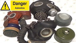 WARNING Gas Mask filters that contain Asbestos