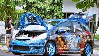 modifikasi tergila mobil honda jazz extreme di indonesia giias 2016