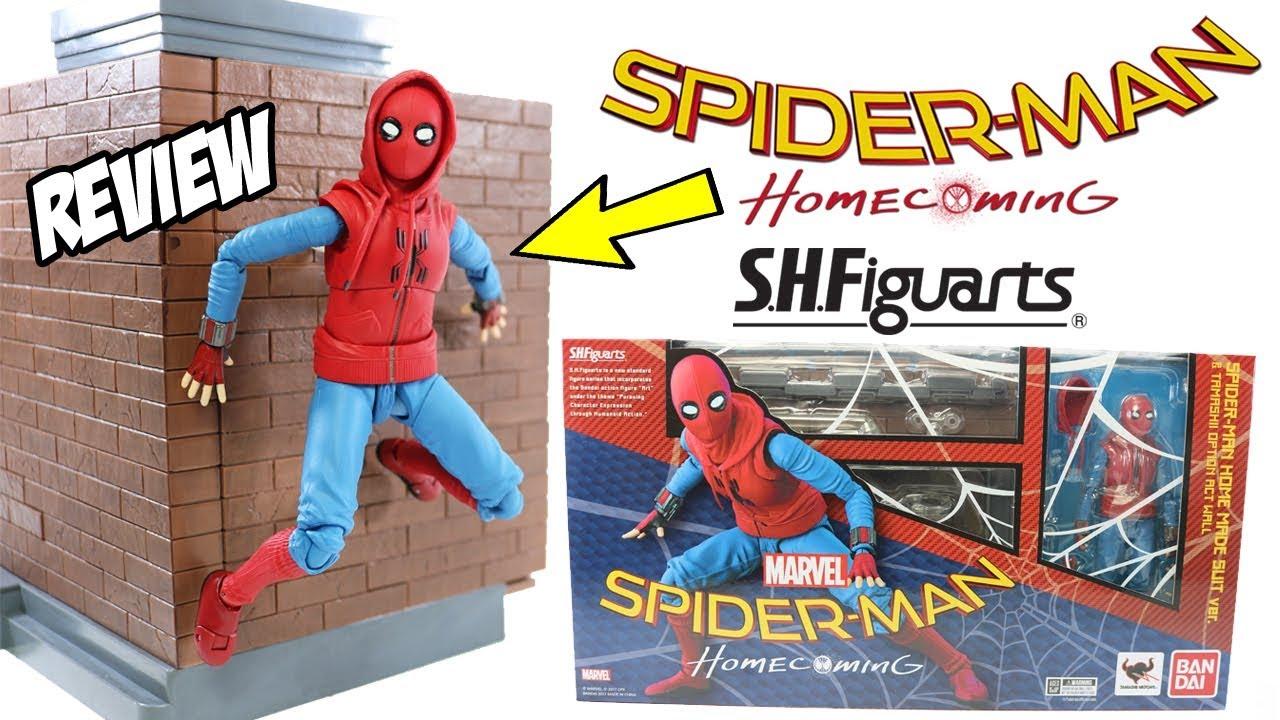 SH Figuarts filme Homem Aranha De Volta ao Lar Homemade Suit SpiderMan Review brinquedo em portugues