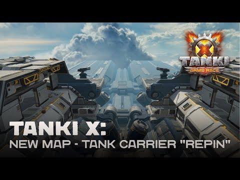 """Tanki X: New Map - Tank Carrier """"Repin"""""""