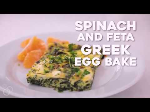 Greek Egg Bake With Spinach And Feta Recipe