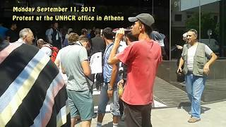 Hostage of Europe - ''Stranded Refugees in Greece Demonstrate at UNHCR Office in Athens''