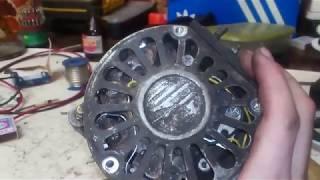 Ремонт генератора 24 вольта Китайського навантажувача.