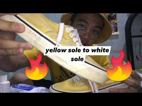 VANS CHEAP RESTORATION (YELLOW SOLE TO WHITE SOLE)
