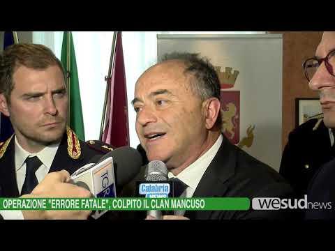 """OPERAZIONE """"ERRORE FATALE"""", COLPITO IL CLAN MANCUSO"""