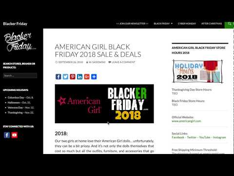 American Girl Black Friday 2018 Sale Predictions