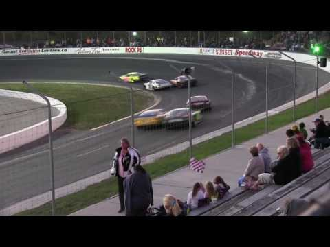 Sunset Speedway Late Model Heat 6 2016 09 24