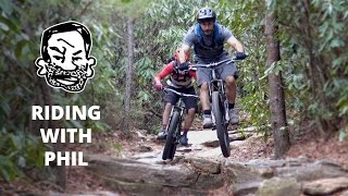 Mountain Biking with Phil Kmetz in North Carolina - Riding with Seth EP13