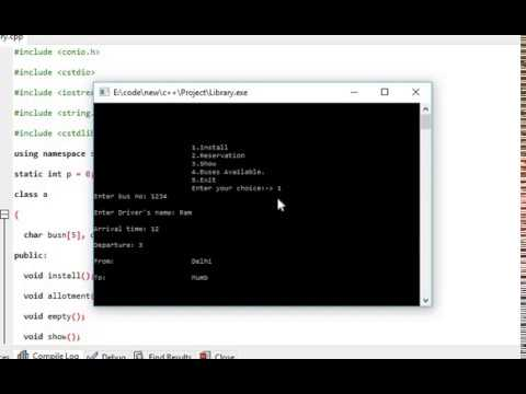 Bus Reservation Project in C++
