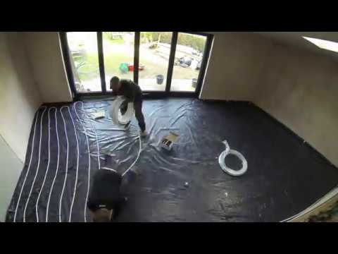 time lapse underfloor heating 2017