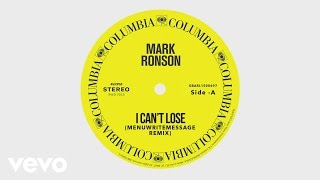 Mark Ronson I Can T Lose MenuWriteMessage Remix Audio Ft Keyone Starr
