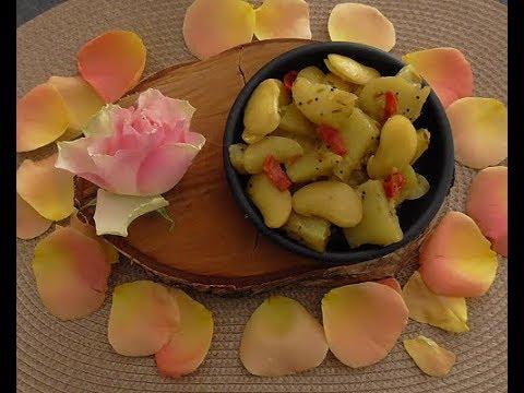 Chayote (sayote/Labusiam) met Limabonen (vegetarisch)