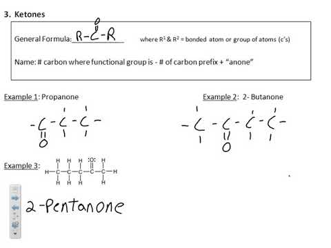 Functional Groups and Specific Types of Organic reactions