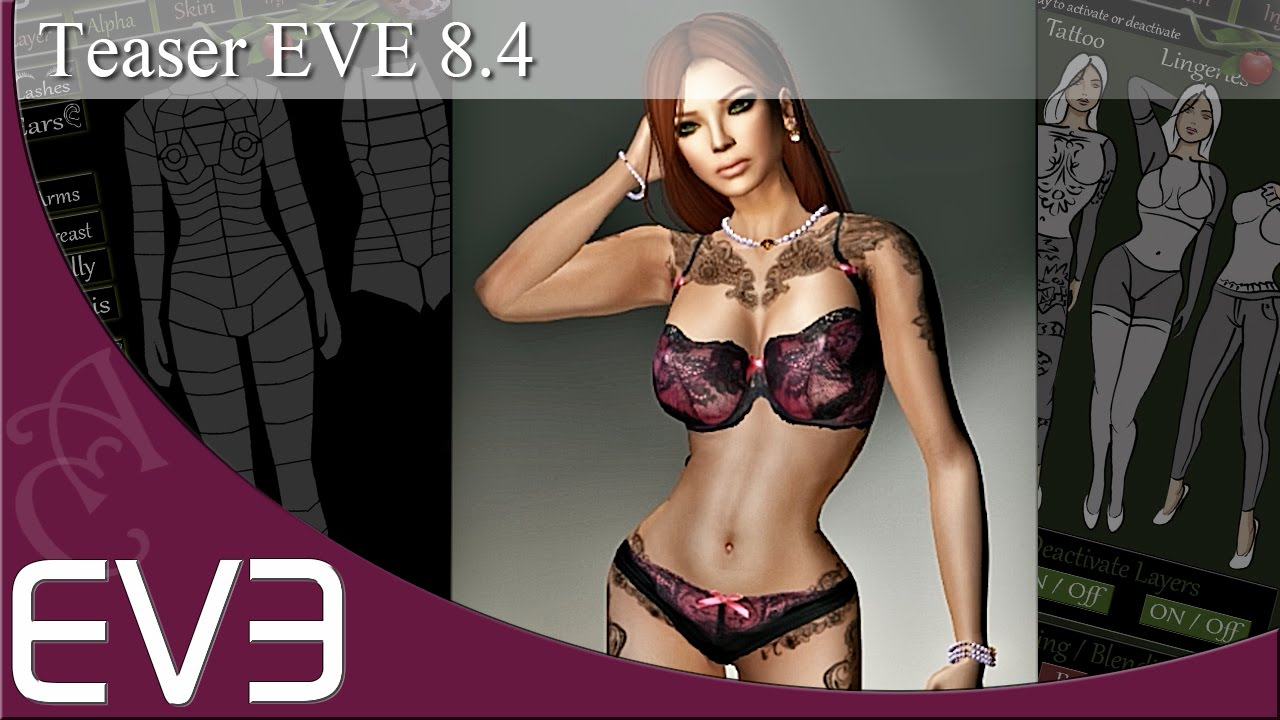 Eve 8 4 New Version Updated Mesh Body Second Life Youtube