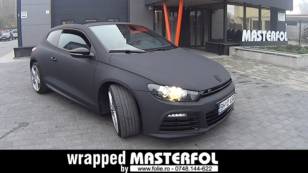Vw Scirocco Wrapped By Masterfol Black Matte Youtube
