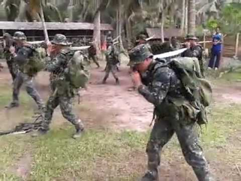 Philippine Marine Corps Demonstrate Pekiti Tersia Kali | Armed Forces of the Philippines