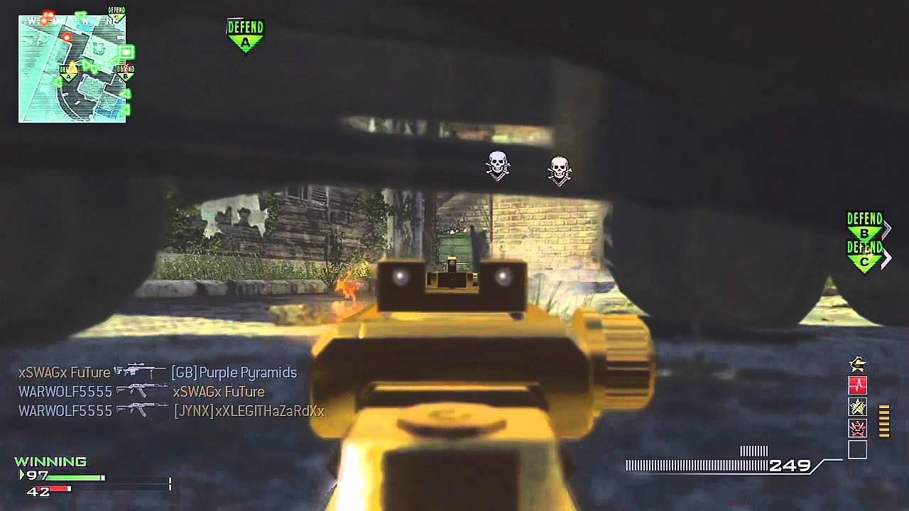 MW3 - MW3: Gold MP7 M O A B   Dominating Fallen (Modern Warfare 3)