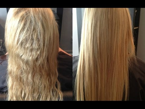 Permanent Hair Straightening at home with two ingredients   Silk & shine