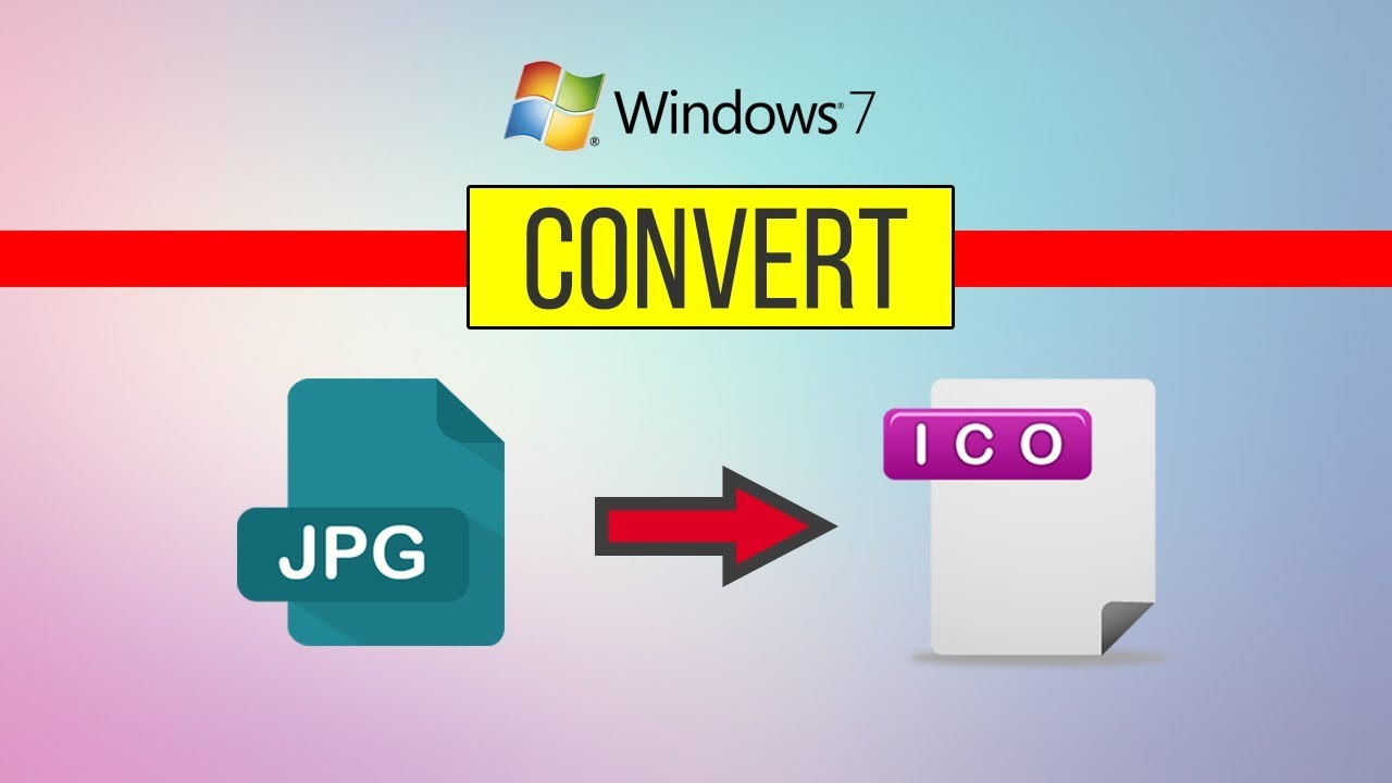 Convert JPG to ICO Windows 7 - YouTube