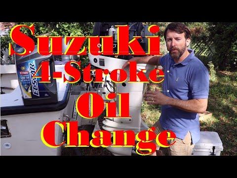 SUZUKI 4 Stroke OIL CHANGE - DF140A