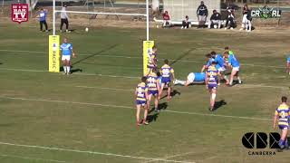 2018 R14 RG: Woden Valley Rams Rugby League - Seniors 18 d Queanbeyan Blues 2018 12