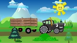 Песенка для детей   Синий трактор   Учим названия животных