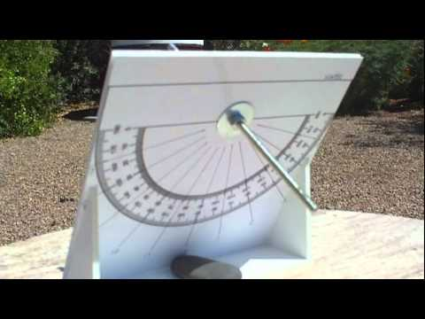 Demonstration of An Equatorial Sundial - YouTube