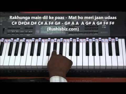 Dilke Jharokhe Mein Tujkho Bithakar - Piano Tutorials