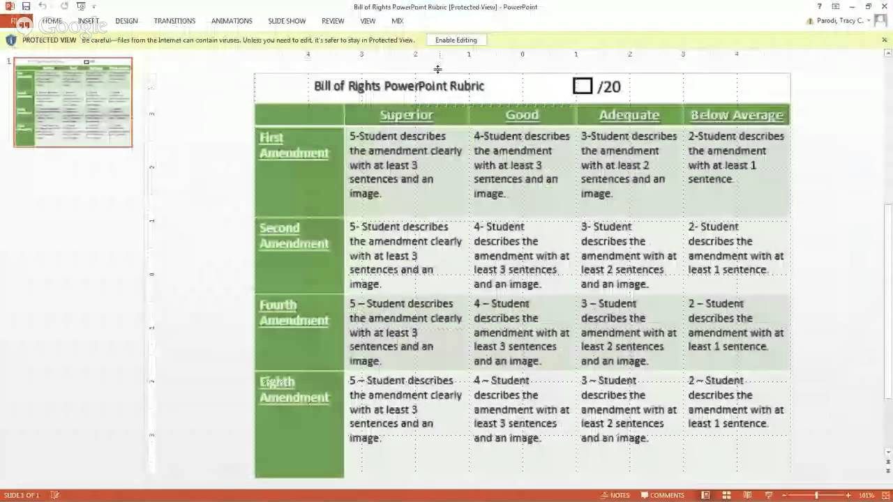 bill of rights powerpoint youtube