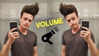 How Much Volume Can I Get?    Mens Hair Volume CHALLENGE