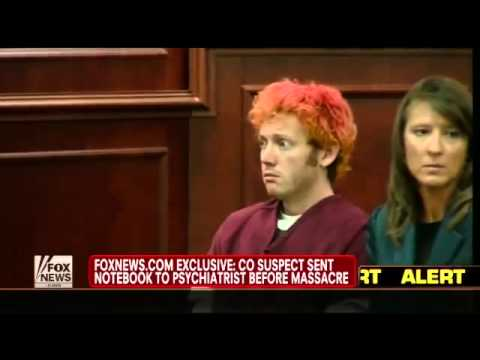 James Holmes Sent Notebook to Psychiatrist Warning of Attack