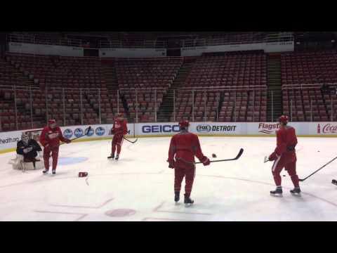 Injured Red Wings skate in optional practice