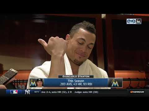 Giancarlo Stanton -- Miami Marlins vs. San Francisco Giants 08/14/2017