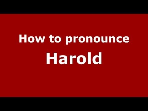 How to pronounce Harold (French) - PronounceNames.com