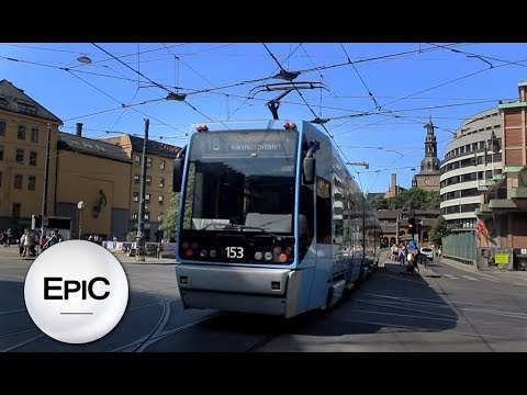 Tramways of Oslo - Norway (HD)