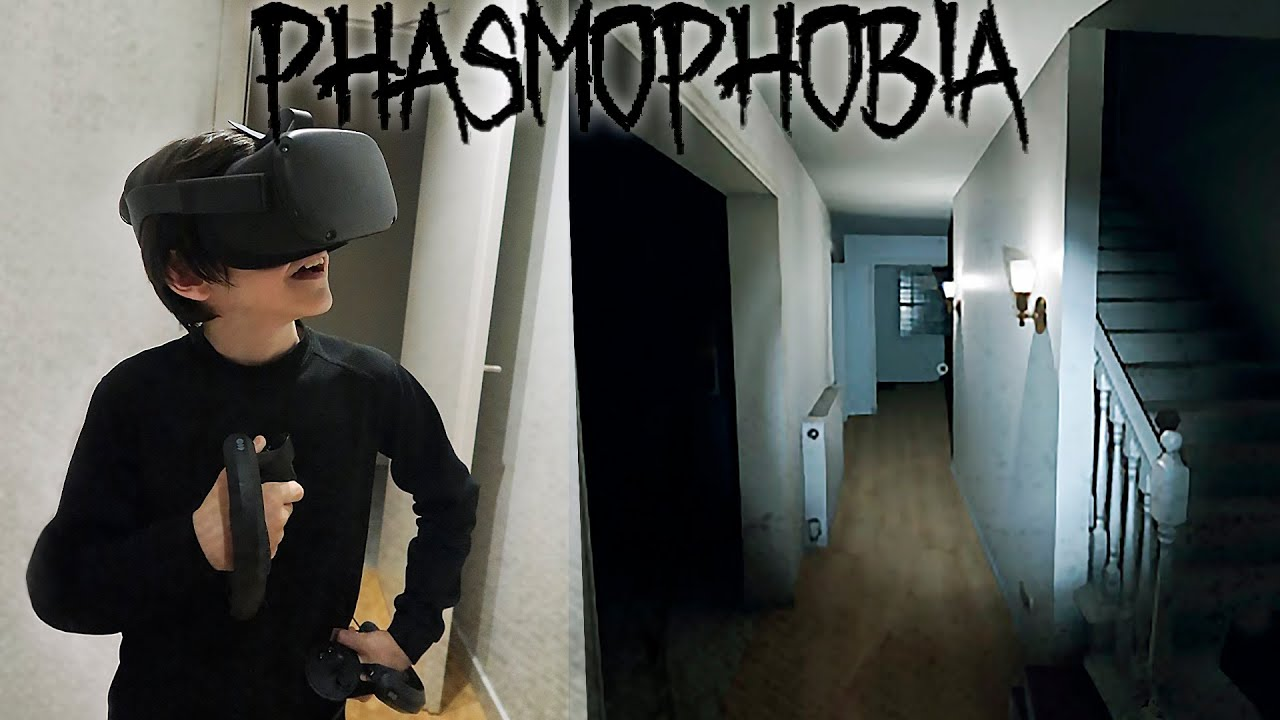 MI PRIMERA VEZ USANDO VR (PHASMOPHOBIA) - ThiagoIUTU