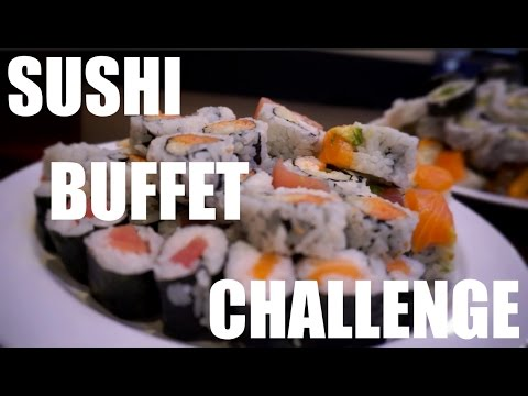 SUSHI BUFFET CHALLENGE | VIKINGS STEAK SEAFOOD & SUSHI BUFFET