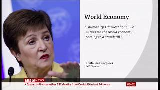Coronavirus (Covid-19) World economy at a standstill & recession (Global) - BBC News 4th April 2020