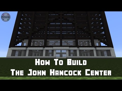 Minecraft: How To Build The John Hancock Center (Skyscraper) Part 1 - Ground Level