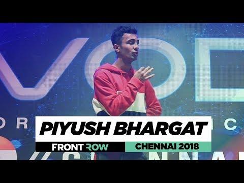Piyush Bhagat  FrontRow  World of Dance Chennai 2018  WODCHENNAI18