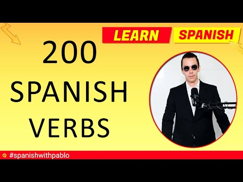 200 Spanish Verbs Tutorial English to Spanish Most Common Verbs in Spanish Vocabulary