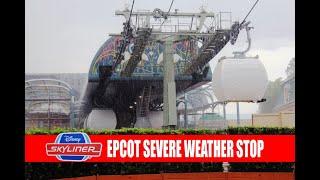Disney Skyliner Gondola Testing Stopped For Severe Weather at Epcot International Gateway