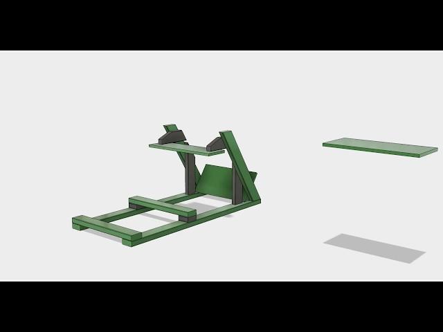 Sim racing cockpit rig DIY 2x4