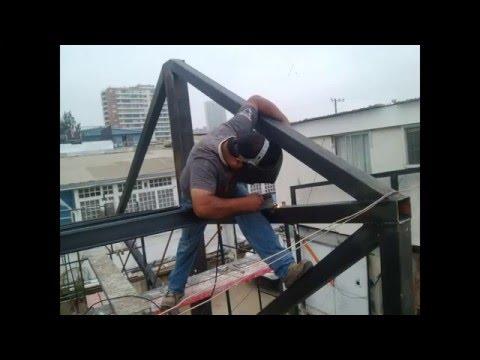 Construcción Y Montaje De Estructura Metálica Youtube