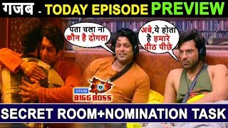 Biggboss 13, Today Episode Preview, Nomination Task Special, Siddharth and paras meet in Secret room