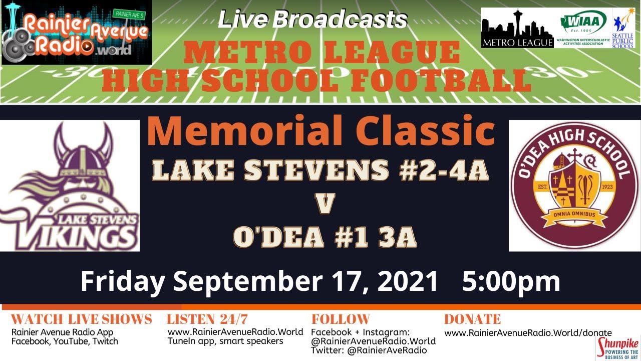 9-17 & 9/18 FOUR GAMES! Metro League Memorial Classic - High School Football